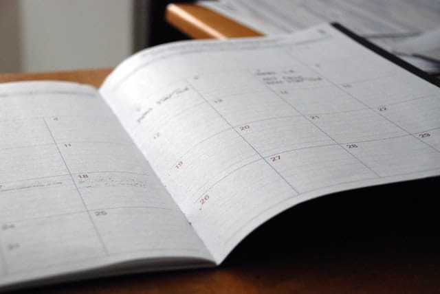 Schedule / Calendar planning book